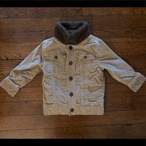Osh Kosh 2T tan corduroy jacket with Sherpa neck